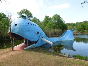 The Blue Whale on  Route 66 in Oklahoma