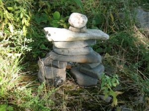 Inukshuk on the path to the our lake.
