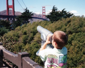 Checking out the Golden Gate in San Francisco
