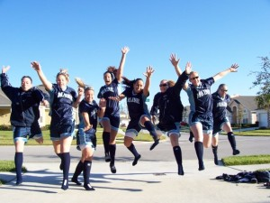 Maine Softball celebrates a road victory