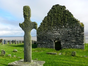 Kilnave Cross and Church in Scotland