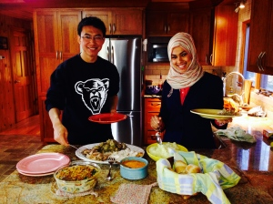 International students Peter and Sara experience their first American Thanksgiving.