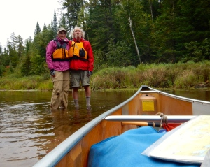 The end of a sixty mile canoe camping trip in the Boundary Waters in 2014