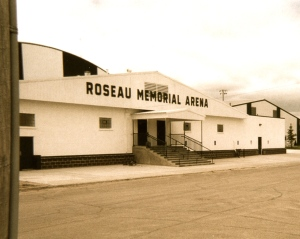 One of three indoor Ice Hockey Rinks in the small town of Roseau, Minnesota