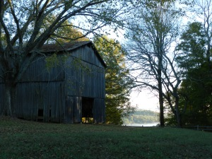 An Old Barn along the Natchez Trace in Mississippi in the quiet of the early morning