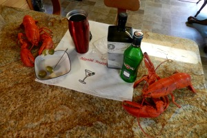 Lobsters and Martinis go hand in hand on Martini Fridays in Maine.