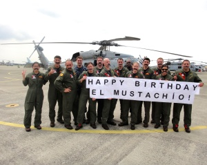 My daughter and her fellow Naval aviators put together this Facebook posting to wish her dad Happy Birthday in 2013.