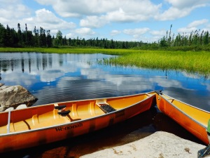 Enjoying the solitude of an early morning on a Boundary Waters canoe camping trip.